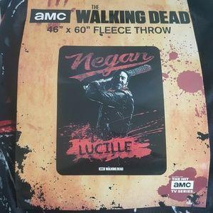 AMC The Walking Dead Negan Lucille Super Blanket